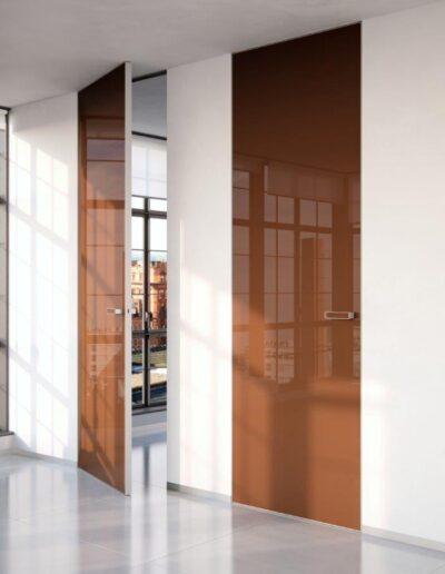 interiérové dveře celoskleněné Grafosklo