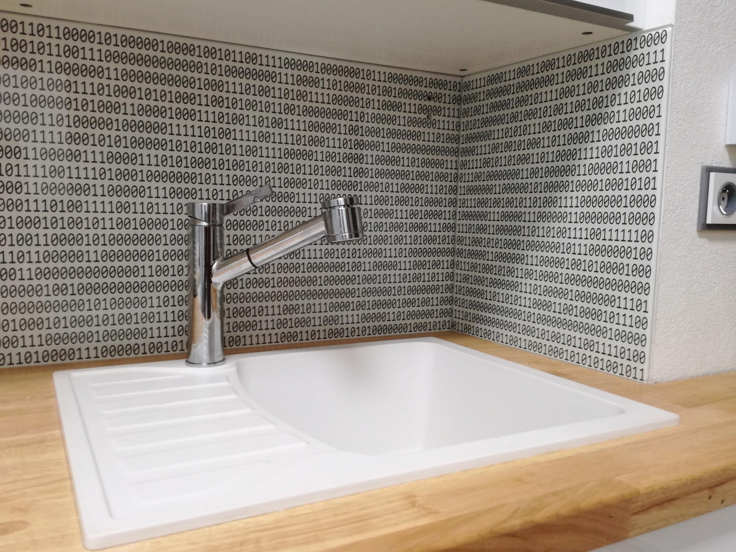 Grafosklo sklo jako obklad za kuchy u0148skou linku ABH Design