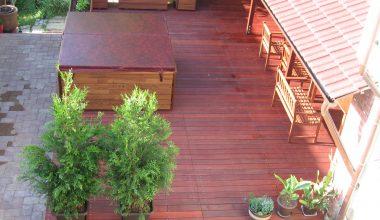 Venkovní dřevěná podlaha na terasu